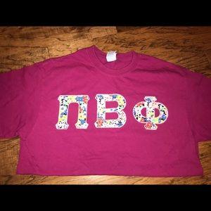 Tops - Pi beta phi letters t-shirt